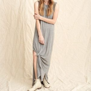 The Great Sleeveless Knotted Tee Dress 0 XS